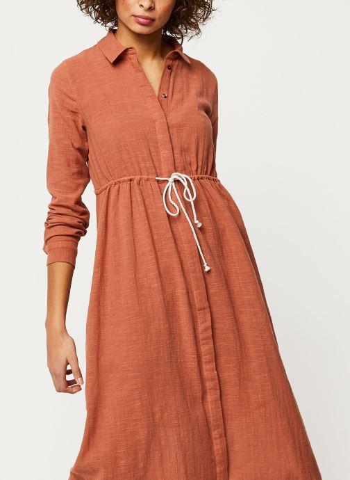 Vêtements Pieces Dresses Pcnamali Ls Dress Kac Marron vue détail/paire