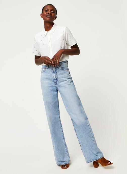 Vêtements Pieces Shirt Pcneya Ss Shirt Kac Fc Blanc vue bas / vue portée sac