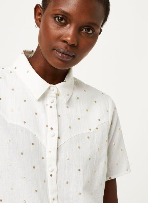 Vêtements Pieces Shirt Pcneya Ss Shirt Kac Fc Blanc vue face