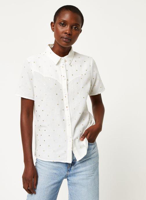 Vêtements Pieces Shirt Pcneya Ss Shirt Kac Fc Blanc vue droite