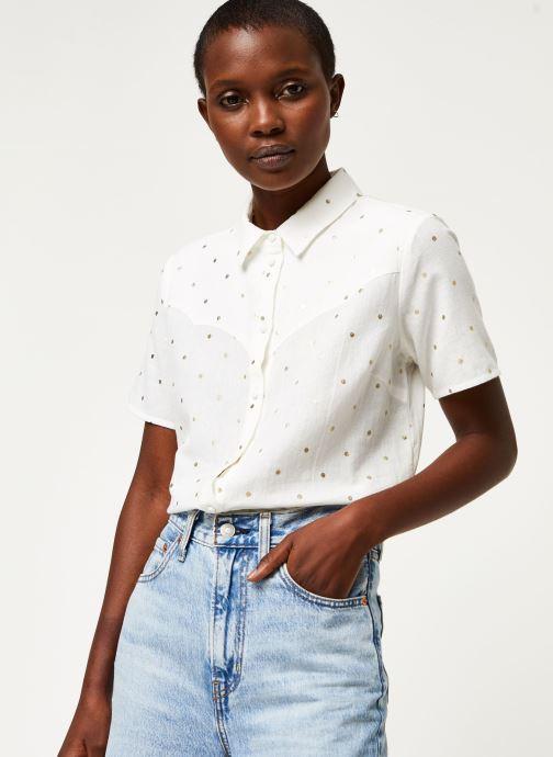Vêtements Pieces Shirt Pcneya Ss Shirt Kac Fc Blanc vue détail/paire