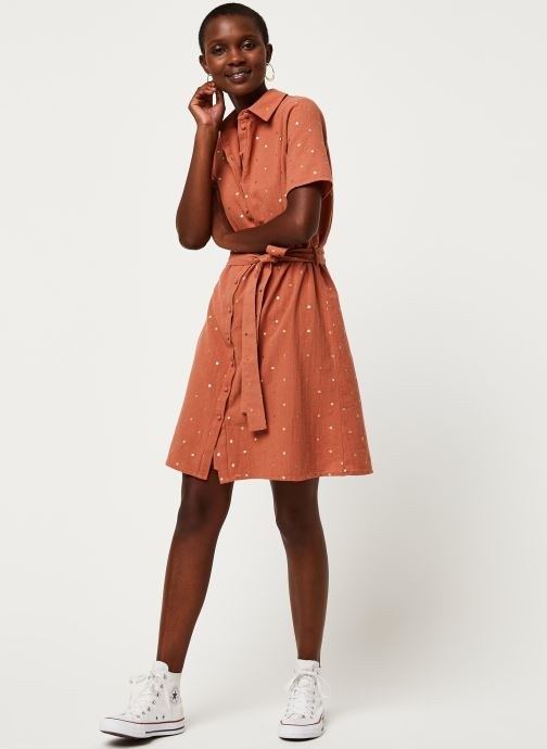 Vêtements Pieces Dresses Pcneya Ss Shirt Dress Kac Fc Marron vue bas / vue portée sac