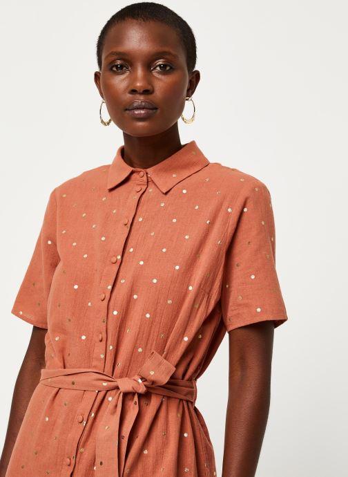 Vêtements Pieces Dresses Pcneya Ss Shirt Dress Kac Fc Marron vue face