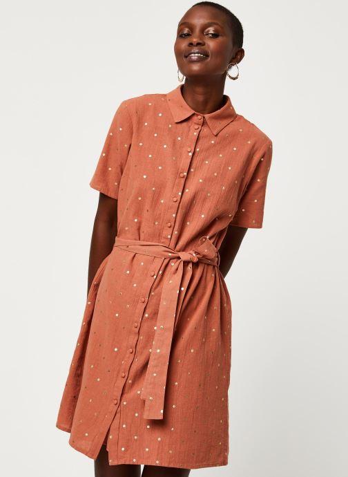 Vêtements Pieces Dresses Pcneya Ss Shirt Dress Kac Fc Marron vue droite