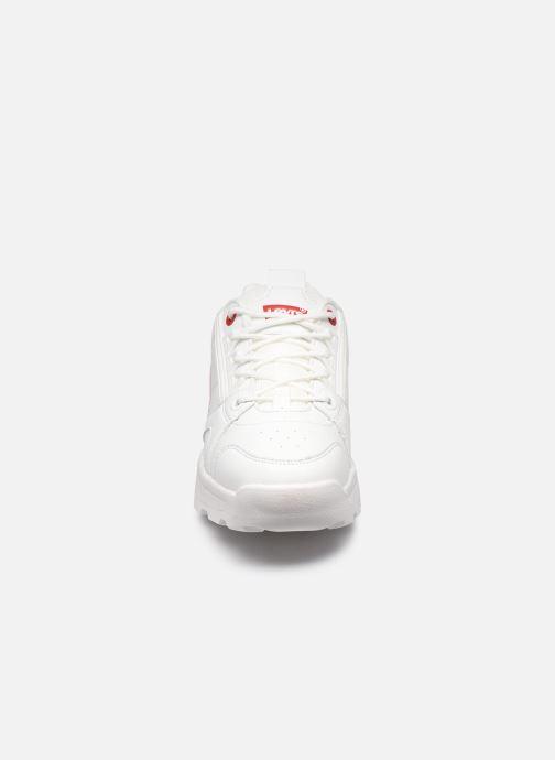 Baskets Levi's Soho Lace Blanc vue portées chaussures