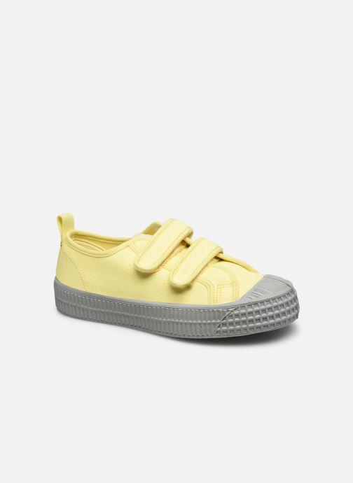 Sneaker Novesta Star Master Kid Velcro gelb detaillierte ansicht/modell