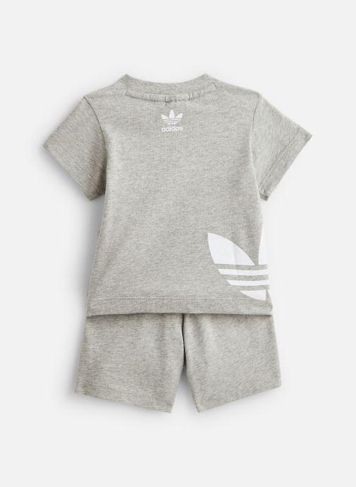Vêtements adidas originals Big Trefoil Sts I Gris vue bas / vue portée sac
