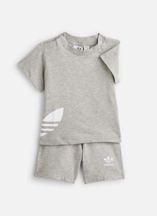 Vêtements adidas originals Big Trefoil Sts I Gris vue détail/paire