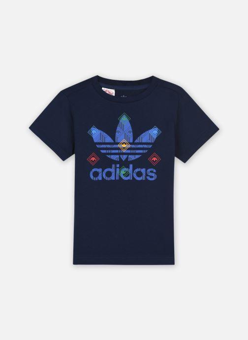 Vêtements adidas originals Tee J Bleu vue détail/paire