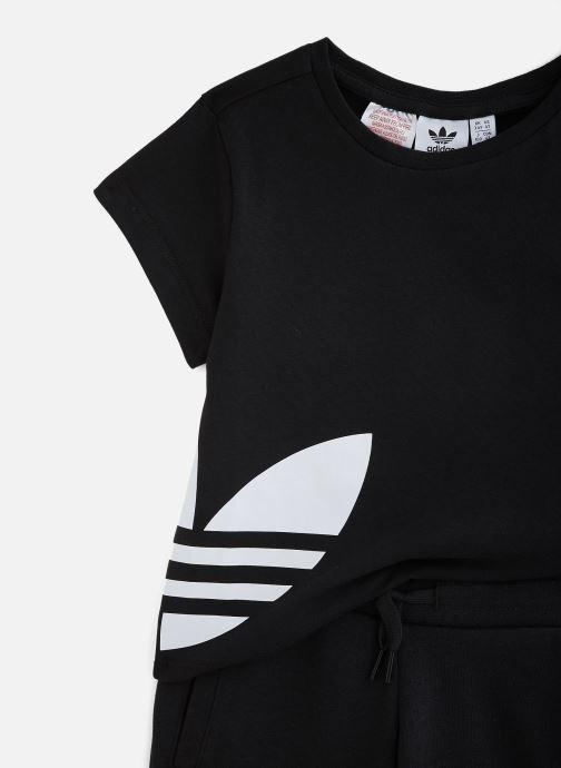 Vêtements adidas originals Bg Trefoil Sts K Noir vue portées chaussures