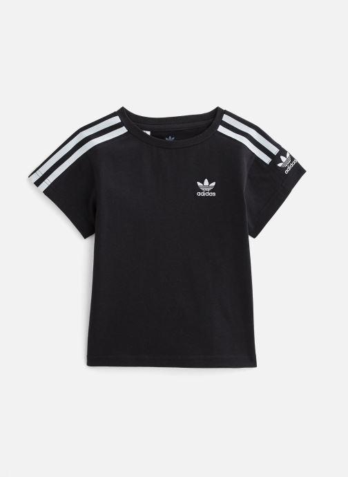 Vêtements adidas originals Icon Tee K Noir vue détail/paire