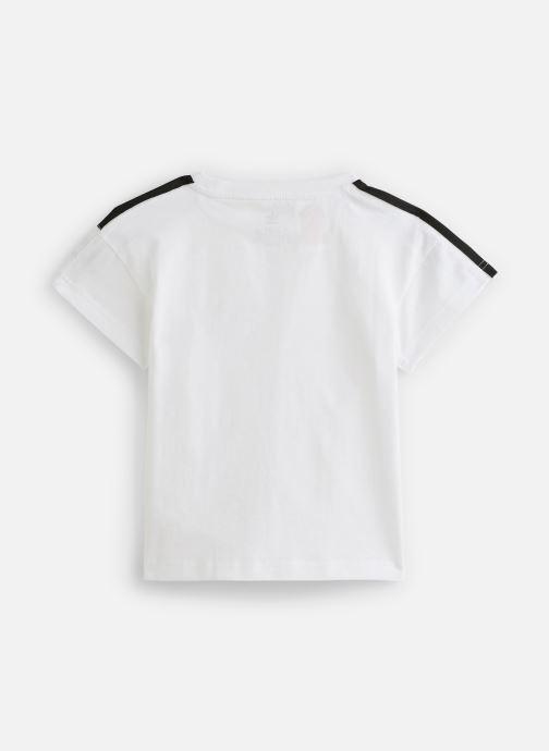 Vêtements adidas originals Icon Tee K Blanc vue bas / vue portée sac