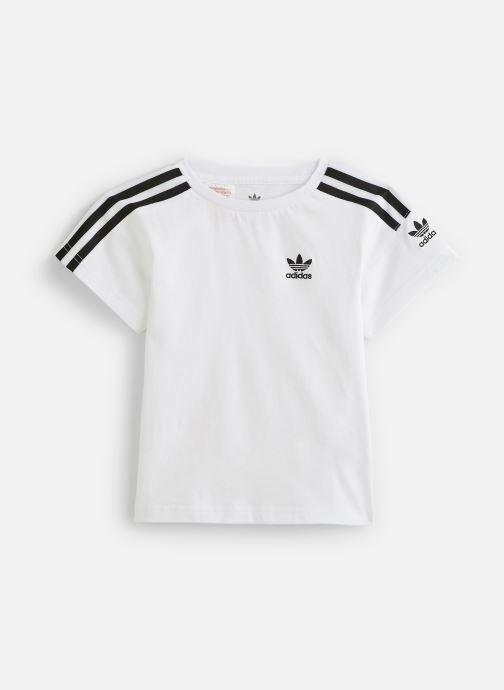 Vêtements adidas originals Icon Tee K Blanc vue détail/paire