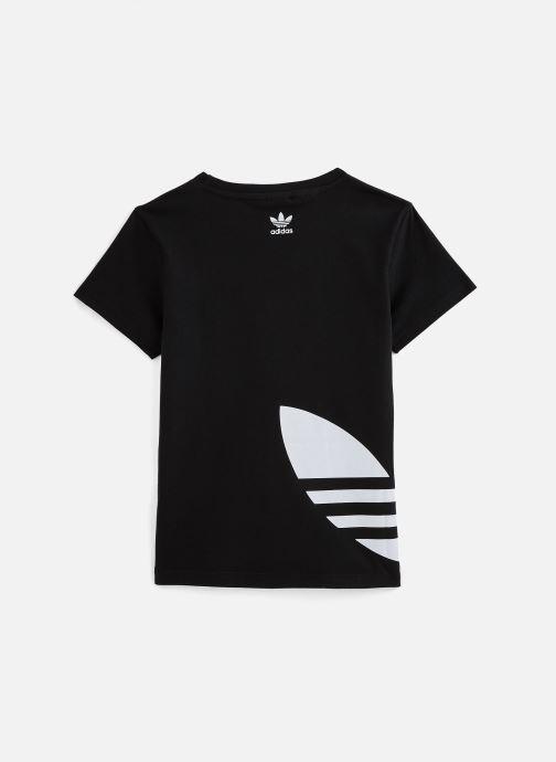 Vêtements adidas originals Big Trefoil Tee J Noir vue bas / vue portée sac