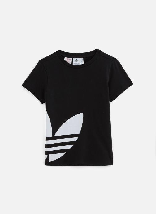 Vêtements adidas originals Big Trefoil Tee J Noir vue détail/paire
