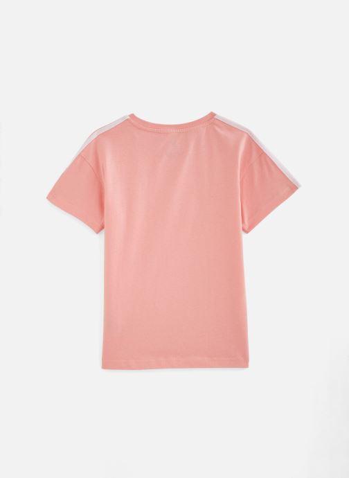 Vêtements adidas originals New Icon Tee J Rose vue bas / vue portée sac