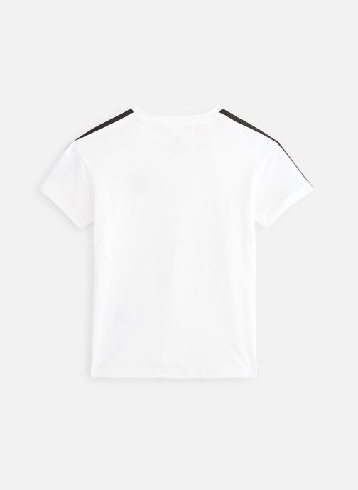 Vêtements adidas originals New Icon Tee J Blanc vue bas / vue portée sac