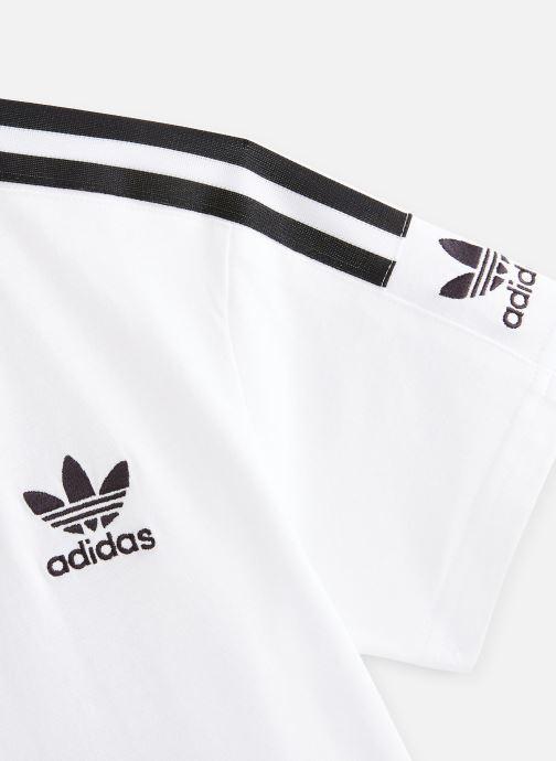 Vêtements adidas originals New Icon Tee J Blanc vue portées chaussures