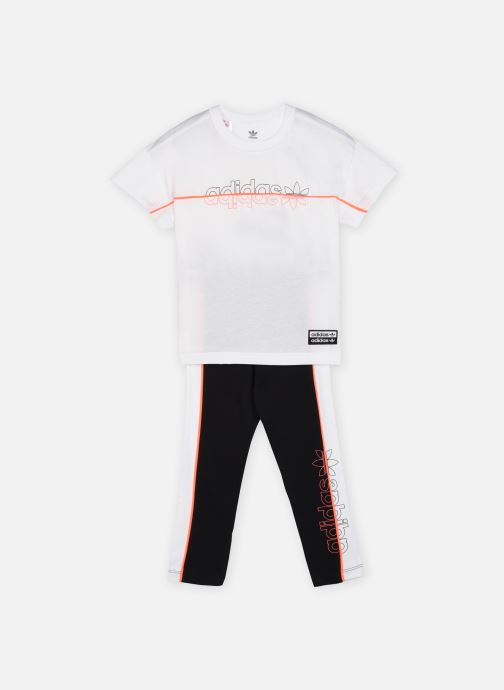 Vêtements adidas originals Tee Legging Set K Rose vue détail/paire