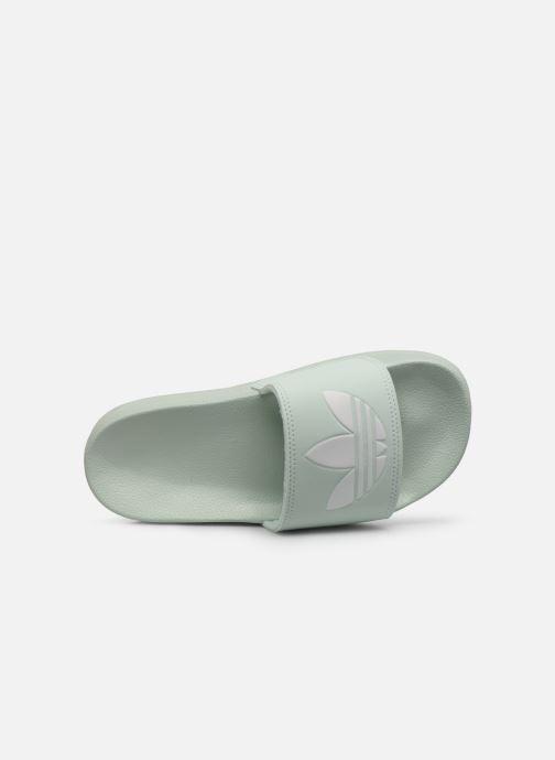 Mules et sabots adidas originals Adilette Lite W Vert vue gauche