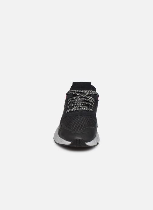 Sneaker adidas originals Nite Jogger W schwarz schuhe getragen