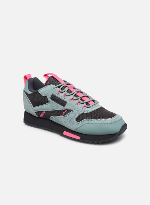 Zapatillas de deporte Reebok Cl Leather Ripple Trail W Gris vista de detalle / par