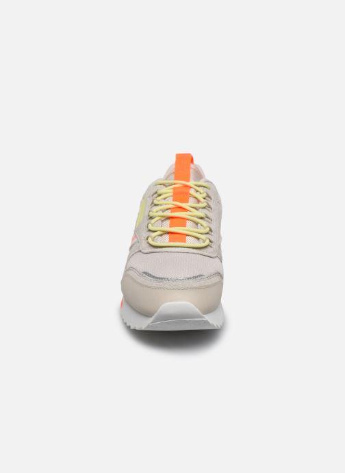 Chaussures de sport Reebok Cl Leather Ripple Trail W Beige vue portées chaussures