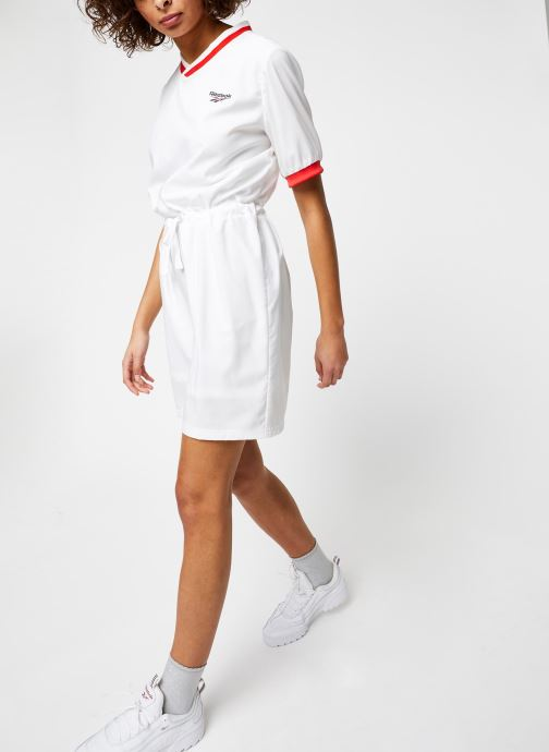 Vêtements Reebok Cl D Tennis Dress Blanc vue bas / vue portée sac