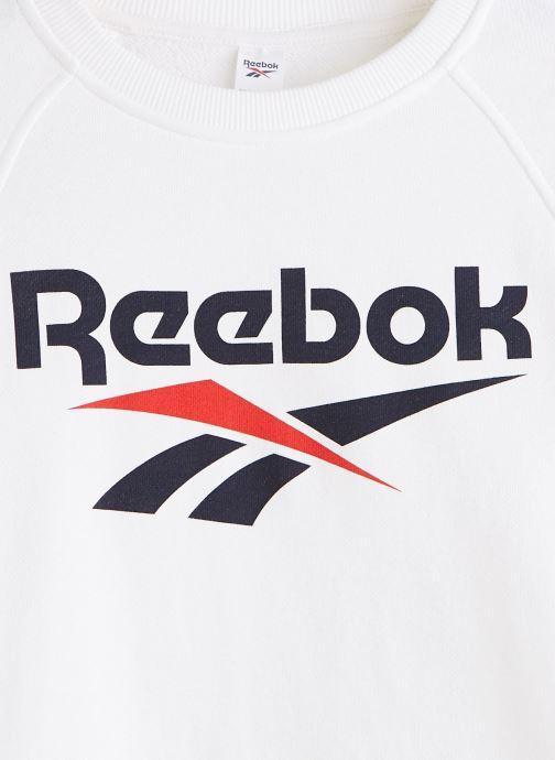 Vêtements Reebok Cl F Vector Crew Blanc vue portées chaussures