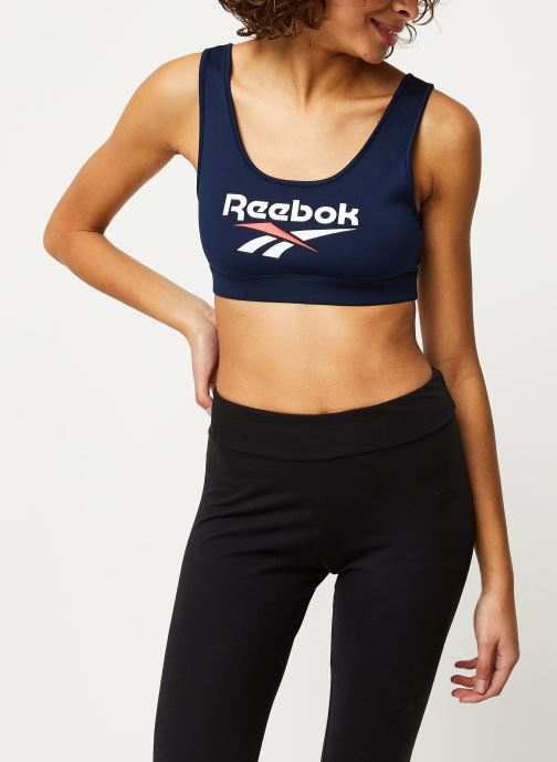 Vêtements Reebok Cl F Vector Bralette Bleu vue détail/paire