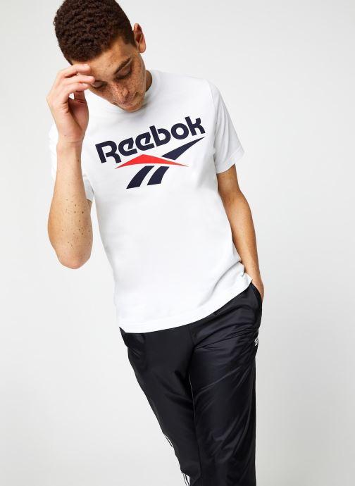 Vêtements Reebok Cl F Vector Tee Blanc vue droite