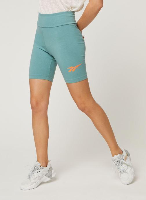 Vêtements Reebok Cl V Logo Bike Shorts Vert vue détail/paire