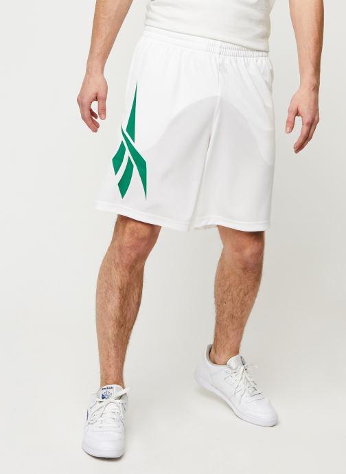 Vêtements Reebok Cl D Soccer Shorts Blanc vue détail/paire