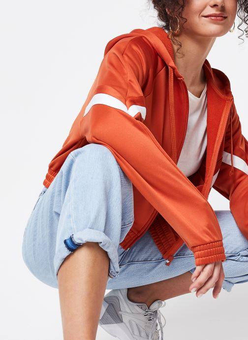 Vêtements Reebok Cl D Team Fullzip Orange vue détail/paire
