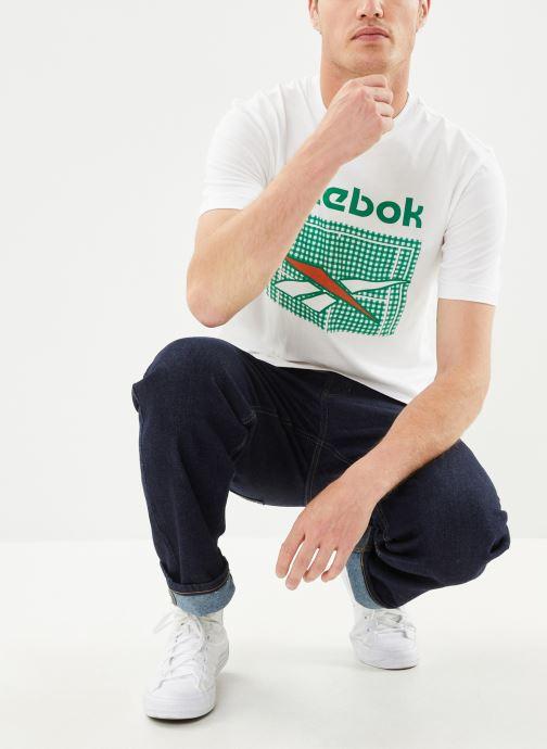 Vêtements Reebok Tennis Court Tee Blanc vue bas / vue portée sac