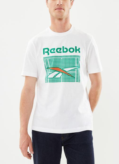 Vêtements Reebok Tennis Court Tee Blanc vue détail/paire