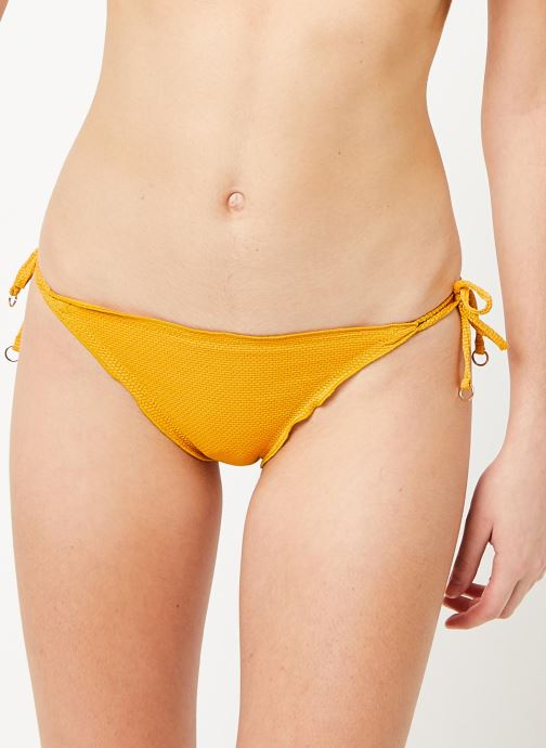 Vêtements Seafolly Brazilian Tie Side Jaune vue détail/paire