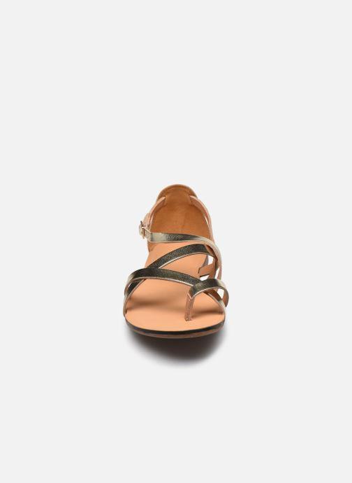 Sandalen Vagabond Shoemakers TIA 4931-083 gold/bronze schuhe getragen