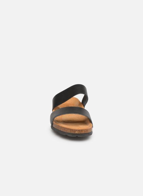 Zuecos Bianco BIABETRICIA Twin Strap Sandal Negro vista del modelo