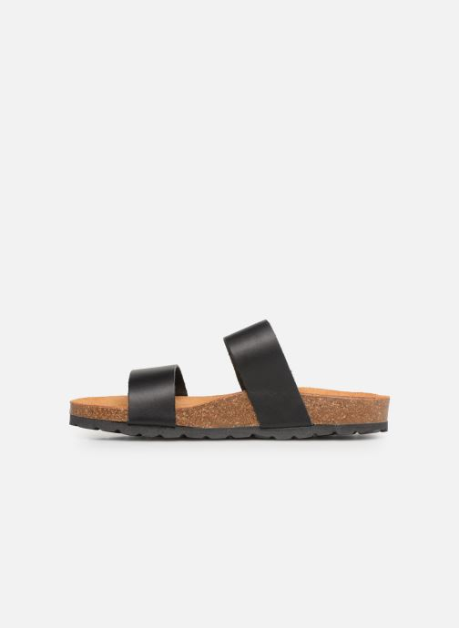 Zuecos Bianco BIABETRICIA Twin Strap Sandal Negro vista de frente
