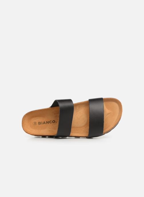 Zuecos Bianco BIABETRICIA Twin Strap Sandal Negro vista lateral izquierda