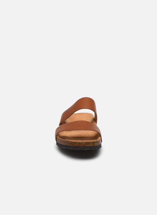 Mules et sabots Bianco BIABETRICIA Twin Strap Sandal Marron vue portées chaussures