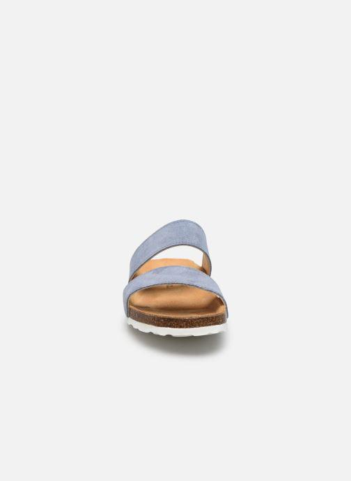 Mules et sabots Bianco BIABETRICIA Twin Strap Sandal Bleu vue portées chaussures