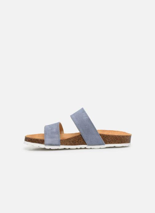 Mules et sabots Bianco BIABETRICIA Twin Strap Sandal Bleu vue face