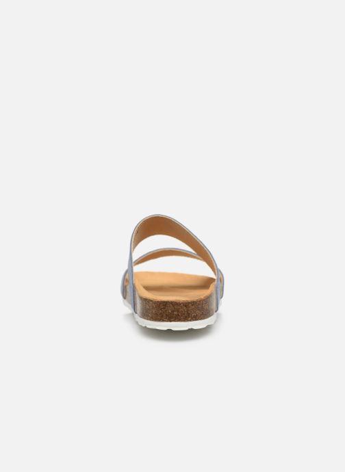 Mules et sabots Bianco BIABETRICIA Twin Strap Sandal Bleu vue droite