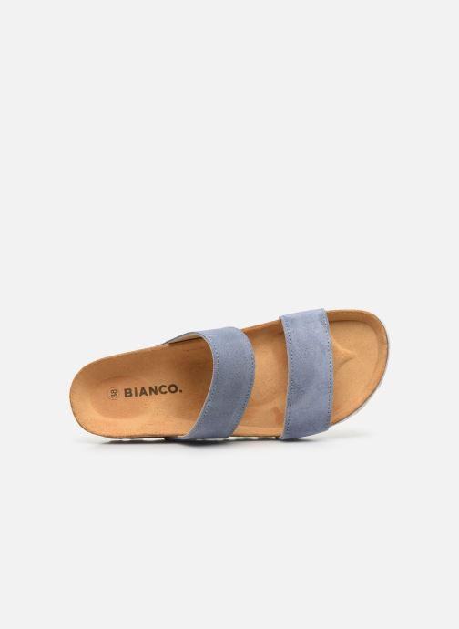 Mules et sabots Bianco BIABETRICIA Twin Strap Sandal Bleu vue gauche
