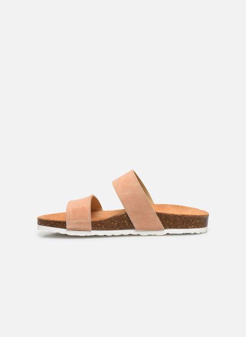 Zuecos Bianco BIABETRICIA Twin Strap Sandal Naranja vista de frente