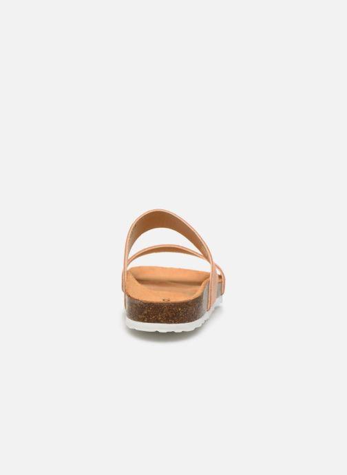 Zuecos Bianco BIABETRICIA Twin Strap Sandal Naranja vista lateral derecha