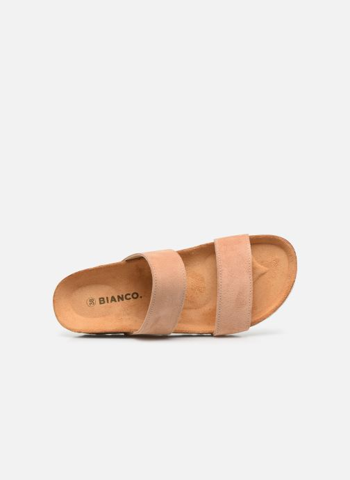 Zuecos Bianco BIABETRICIA Twin Strap Sandal Naranja vista lateral izquierda