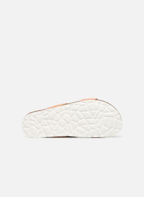 Zuecos Bianco BIABETRICIA Twin Strap Sandal Naranja vista de arriba